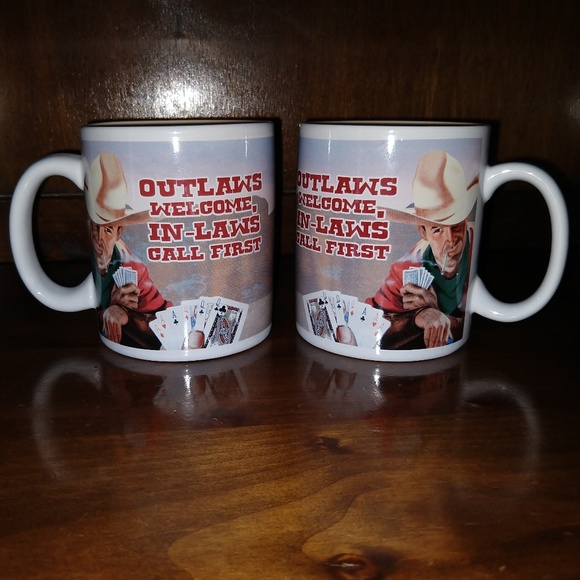 Vandor Gifts Other - Western Cowboy Mugs Outlaws Welcome Bundle Lot 2